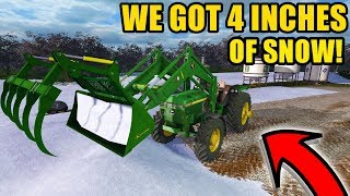 Download JD LOADER TRACTOR PUSHES SNOW GREAT! | FARMING SIMULATOR 2017 | EP #22 Video