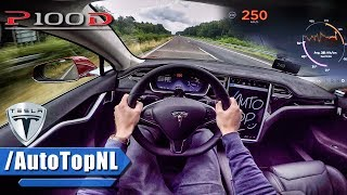 Download Tesla Model S P100D LUDICROUS AUTOBAHN POV TOP SPEED & ACCELERATION by AutoTopNL Video