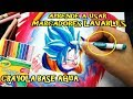 Download Aprende a usar Marcadores Lavables /base Agua Como Dibujar a GOKU Ssj Blue Kaioken Dragon Ball Super Video