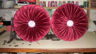 Download طرقة خياطة مخدة دائرية لزينة الصالون المغربي Method of sewing a pillow in the form of a circle Video