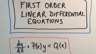 Download ❖ First Order Linear Differential Equations ❖ Video