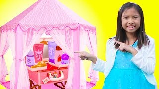Download Wendy Pretend Play MAKEUP Makeover with Pink Tent Toy Video