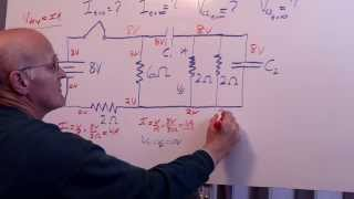 Download RC Circuit Hard HW Problem - 4 resistors 2 capacitors Video