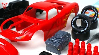Download Cars 3 Lightning McQueen Revell Junior Kit cars for kids - McQueen educational video for children Video