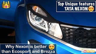 Download Top 10 Unique Features of Tata Nexon | Reason to Buy Tata Nexon over Ecosport and Vitara Brezza Video
