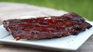 Download Slow Cooking Ribs on a Mini Weber Smokey Mountain Video