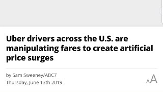 Download ABC News spun what I said about Uber Surge Manipulation. Video