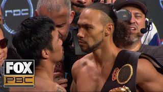 Download Manny Pacquiao and Keith Thurman face off before their massive title fight | WEIGH-INS | PBC ON FOX Video