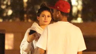 Download Kylie Jenner And Tyga Have Dinner, While She Is All About Her Phone Video