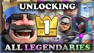 Download Level 1 Account Unlocking ALL Legendaries with King Chests | Clash Royale 🍊 Video