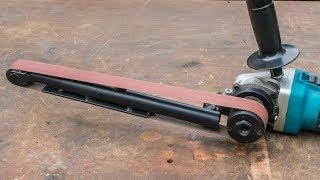 Download Angle grinder hack, large homemade power file belt sander Video