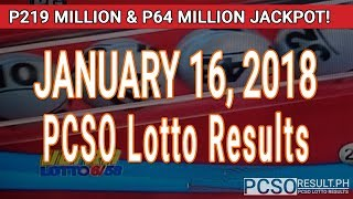 Download PCSO Lotto Results Today January 16, 2018 (6/58, 6/49, 6/42, 6D, Swertres, STL & EZ2) Video