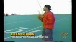 Download Allen Iverson Football Long Throw 60 yards in Philadelphia Eagle Stadium NFL Video