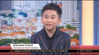 Download Emiliano Cyrus|EC 一平 International Child Celebrity LIVE Interview by ChannelNewsAsia Age9 14Jun2018 Video