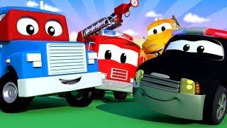 Download Auto City con Tom La Grúa, Carl Super Camión y La Super Patrulla - Dibujos animados - LIVE 🔴 Video