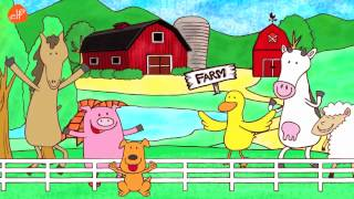 Download Farm Animals Song - Animals Sounds Song - Walk Around the Farm - ELF Learning Video