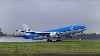 Download 12+ Minutes of Plane spotting at Schiphol airport | Wet Take-off's Video