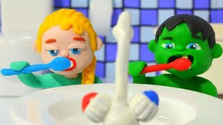 Download Superhero Babies Go To Bed ❤ Frozen Elsa & Hulk Play Doh Cartoons & Stop Motion Movies Video