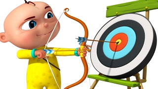 Download Zool Babies Playing Archery | Cartoon Animation For Children | Five Little Babies Series Video
