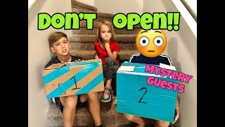 Download DON'T OPEN THE WRONG MYSTERY BOX SURPRISE! with MYSTERY GUESTS! Video