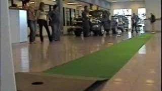Download Man Wins Car in Indoor Putting Contest at Auto Dealership! Video