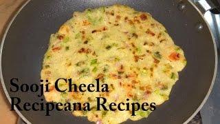 Download Suji Ka Cheela Recipe in Hindi - Veg Rawa Cheela Recipe | Recipeana Video