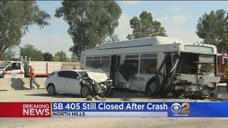 Download Dozens Hurt In Bus Crash On 405 Video