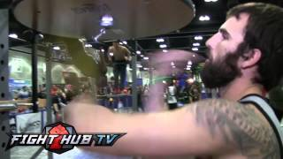 Download Mystery man performs craziest speed bag routine ever Video