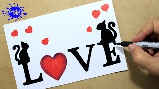 Download Como dibujar love/ how to draw love letters / targetas de amor Video