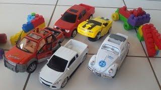 Download Carrinho de brinquedo fusca caminhonete pick up camaro amarelo de brinquedo transformers bumblebee Video
