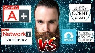 Download CompTIA or Cisco? - Should I get the CompTIA A+/Network+ OR the Cisco CCNA/CCENT - Microsoft MCSA? Video