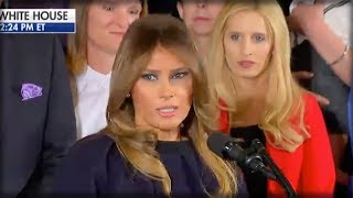 Download RIGHT IN MIDDLE OF SPEECH, MELANIA TURNED AND SUDDENLY EVERYONE SAW CHILLING THING BEHIND HER Video