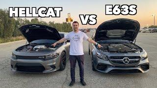 Download 700HP MERCEDES E63S AMG VS HELLCAT ON SLICKS! Video