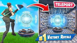 Download TRAPPING Enemies in *NEW* TELEPORTS In Fortnite Battle Royale! Video