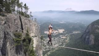 Download World Record Free Solo - Insane Slacklining! Video