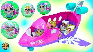Download LOL Surprise Big Lil Sisters Blind Bag Balls Airplane Vacation with Rainbow Kate Video