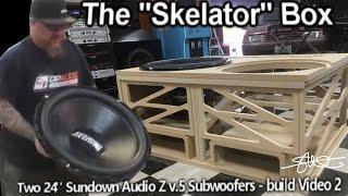 Download The ″Skelator″ Box - Two Gigantic 24″ Sundown Subwoofers - Huge Ported Enclosure Build video 2 Video