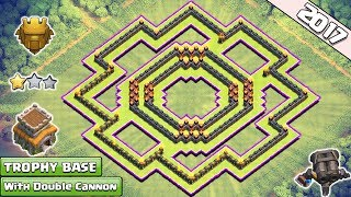 Download Updated Clash of Clans Town Hall 8 (TH8) Trophy Base With Double Cannon ♦ TH8 Ring/Circle Base 2017 Video