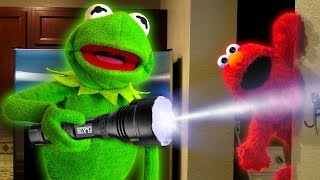Download Kermit the Frog and Elmo play Hide and Seek! Video