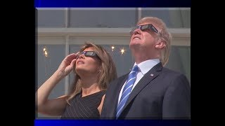 Download President Donald Trump & The First Lady Melania Trump View the Solar Eclipse from the Truman Balcony Video