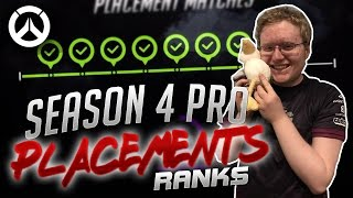 Download PROS GET THE SEASON 4 RANKS! - Overwatch Pro Placement Ranks Comilation Pt.1 Video