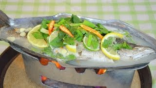 Download How to Make Thai Steamed Fish in Lime Sauce ปลากะพงนึ่งมะนาว Video