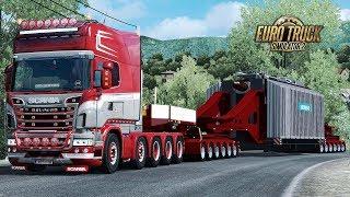 Download ✅ ETS2 - HUGE 96 Ton Siemens Trafo Trailer Video