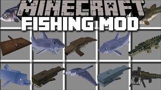 Download Minecraft FISH MOD / SWIM AWAY FROM SHARKS AND GIANT KILLER WHALES!! Minecraft Video