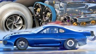 Download 2,400HP Toyota Supra - 6 CYLINDER Drag Car! Video