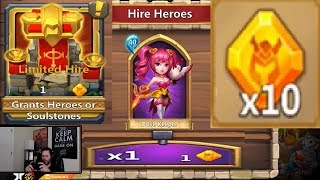 Download New Hire Heroes With HERO CRYSTALS 10 Total Castle Clash Video