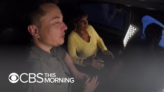 Download Elon Musk and Gayle King test drive his new Boring Company tunnel Video