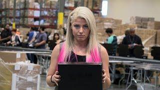 Download Raw Women's Champion Alexa Bliss invades Loot Crate HQ Video