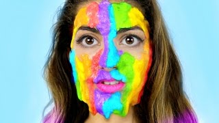Download DIY Rainbow Slime Peel Off Face Mask Video