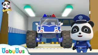 Download Bad Monster Car Grabs Candies from Baby Panda | Super Train, Fire Truck, Earthquake Escape | BabyBus Video